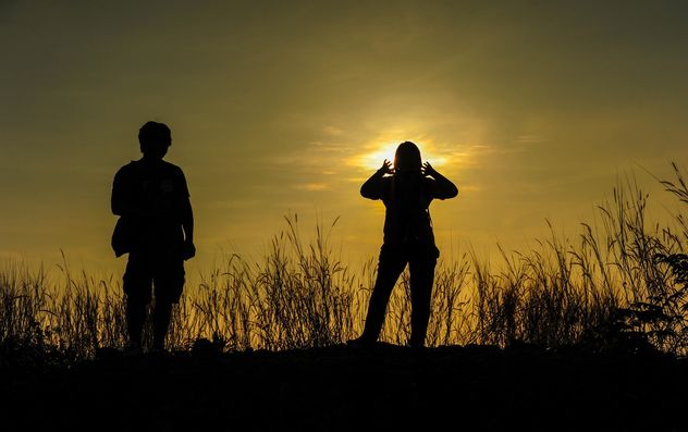 silhouettes of friends - Free image #328163