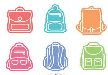 Colorful Bag Vectors - vector gratuit #328213