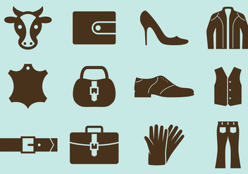 Leather Vector Icons - vector #328283 gratis