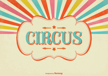 Colorful Sunburst Circus Illustration - vector gratuit #328313