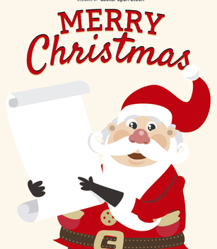 Funny Santa Claus with gift list - vector gratuit #328373