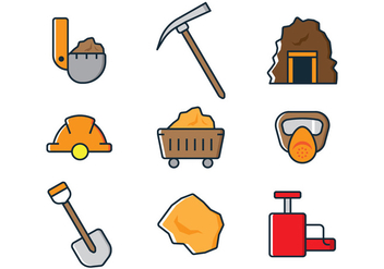 Mining Icons - Kostenloses vector #328743