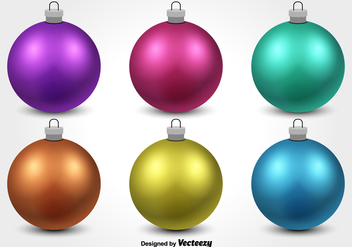 Colorful Christmas Ornament Vectors - Free vector #328793