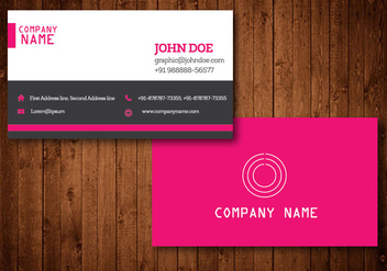 Pink Creative Business Card Vector Template - Free vector #328843