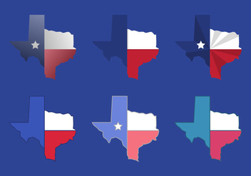 Texas Map Vector Icons #3 - vector #328863 gratis