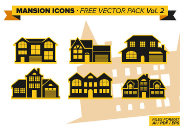 Mansion Icons Free Vector Pack Vol. 2 - vector gratuit #328883