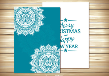 Beautiful Christmas Card Template - vector gratuit #328893