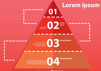 Four Step Pyramid Chart - vector gratuit #328943