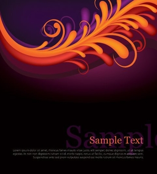 Multicolor Repeated Swirls Background - vector gratuit #328953