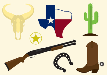 Texas Vector Icons - vector gratuit #329323