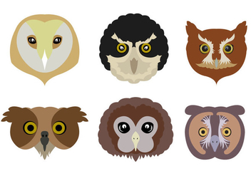 Vector Set of Owls - vector #329363 gratis