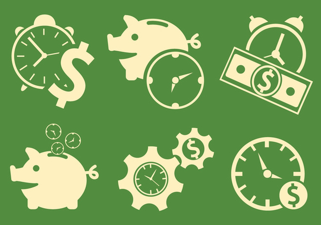 Vector Symbols of Time and Money - vector #329393 gratis