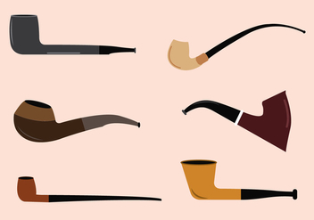 Vector Set of Tobacco Pipes - vector gratuit #329423