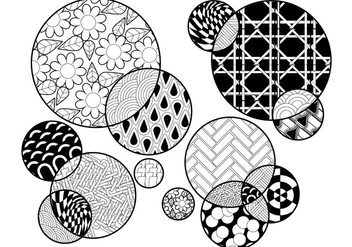 Circles Coloring Page - vector gratuit #329463