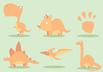 Dinosaur Vector Set - бесплатный vector #329473