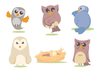 Barn Owl Vector Set - Free vector #329483