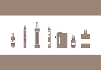 Free Vape Vector Icons #3 - Free vector #329523
