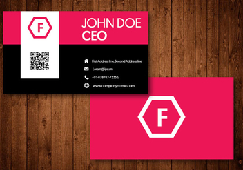 Modern Creative Business Card - vector gratuit #329823