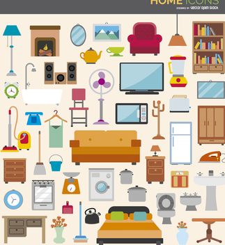 Home Icon Set - vector #329833 gratis