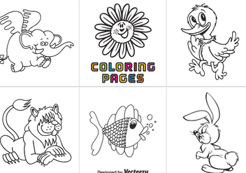 Free Animal Coloring Pages Vector - vector gratuit #330053