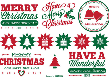 Christmas Label Set - vector #330083 gratis