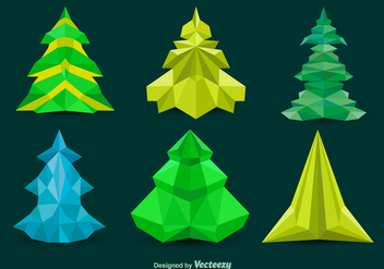 Polygonal pine vector trees - бесплатный vector #330153