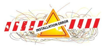 Installation Error Abstract Sign - vector gratuit #330183