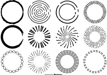 Hand Drawn Circle Shape Set - vector gratuit #330493