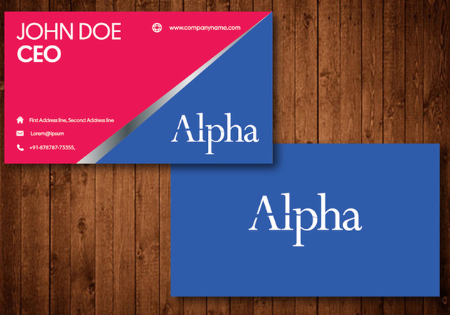 Creative Business Card - Free vector #330563