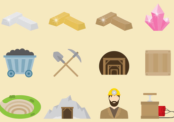 Vector Miner Icons - Free vector #330573