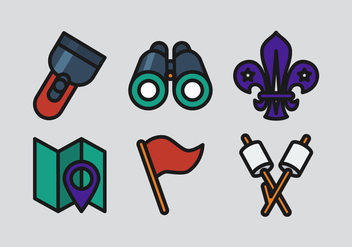 Vector Boy Scouts Icon Set - Free vector #330593