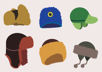 Stylish Fur Hats - vector gratuit #330603