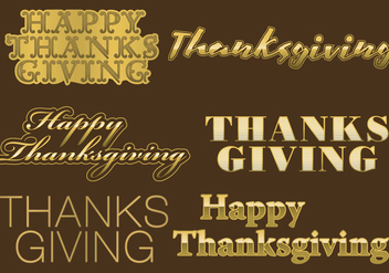 Thanksgiving Golden Titles - Free vector #330743