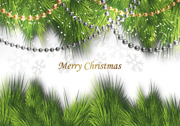 Free Merry Christmas Decor Vector - vector gratuit #330803