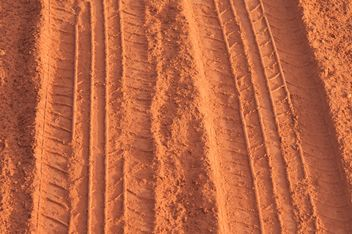 traces of the wheels on the red dust - Free image #331003