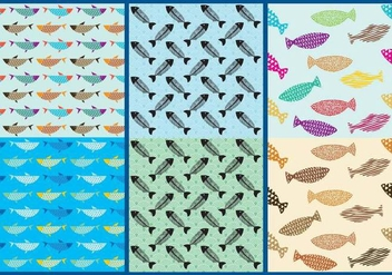 Fish Pattern Vectors - Free vector #331173