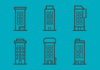 Free Townhomes Vector Icons #6 - бесплатный vector #331363