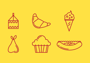 Free School Lunch Vector Icons #2 - бесплатный vector #331523