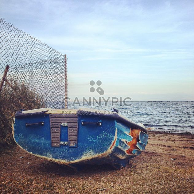 Old boat on the beach in Greece - Free image #331753