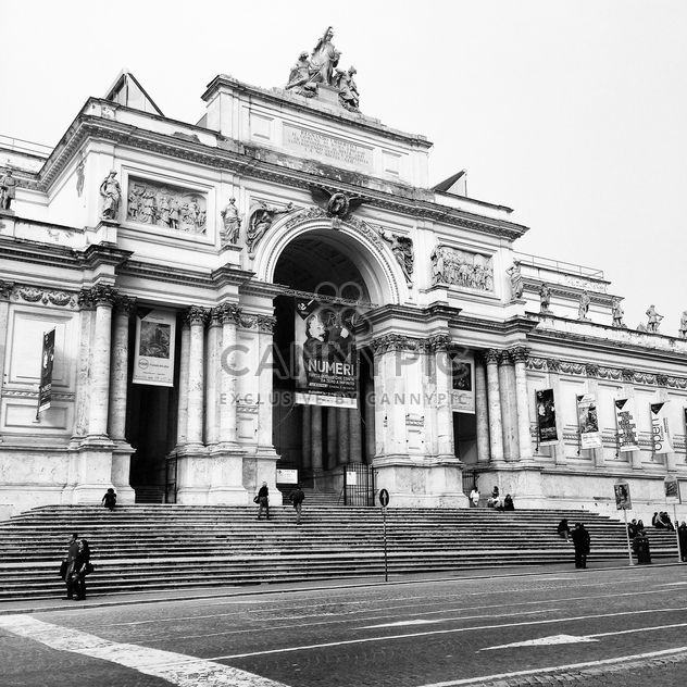 Architecture of Rome, Italy, black and white - Free image #331813