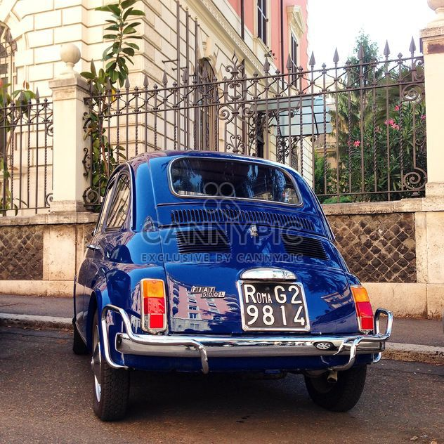 Blue Fiat 500 car - Free image #331933