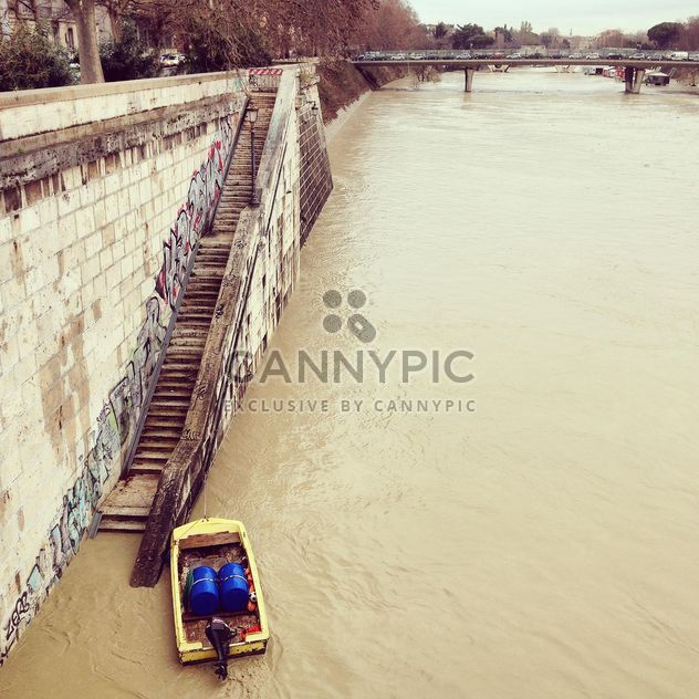Small boat on river in Rome - Free image #332053