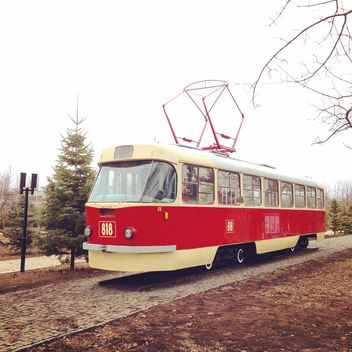Old red tram - Free image #332153