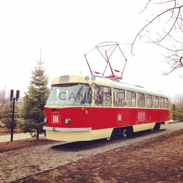 Old red tram - image #332153 gratis