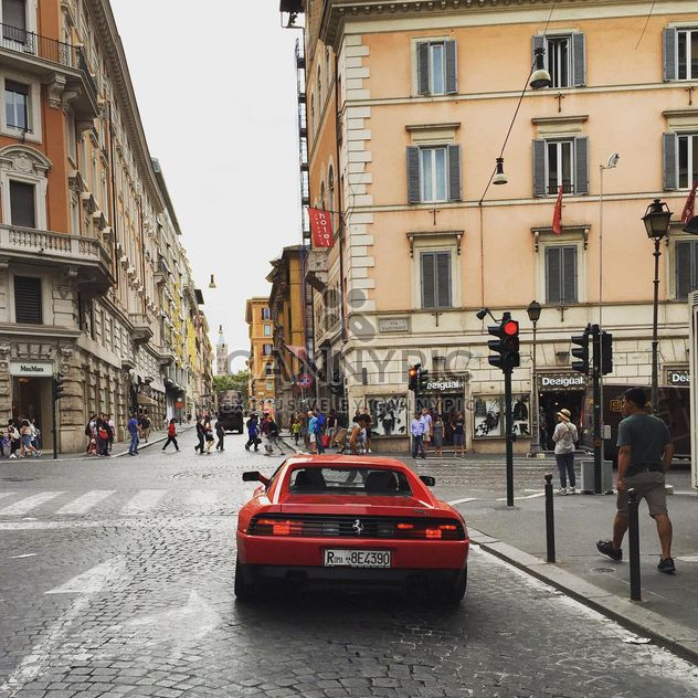 Red Ferrari car on road - Free image #332393