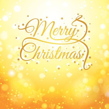 Shiny Golden Christmas Card - Free vector #332413