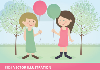 Kids Vector Illustration - vector gratuit #332583