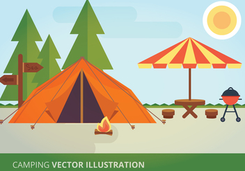 Camping Vector Illustration - Free vector #332593