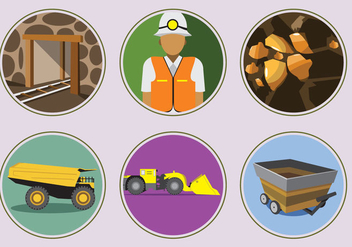 Gold Mine Icons - vector gratuit #332613