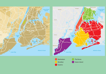 New York City Map - Kostenloses vector #332633